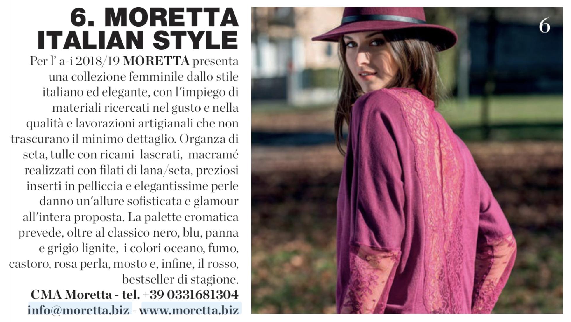 """Moretta su """"Intimo più mare"""" di gennaio 2018"""